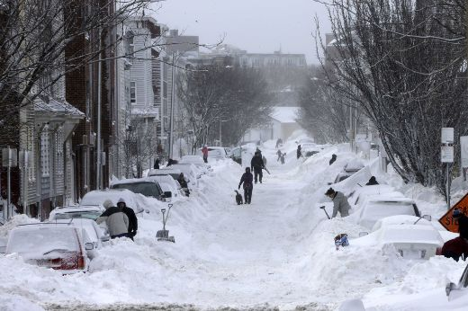 Boston Residents Tackle Severe Winter Weather With Good Humor And A Little Insanity