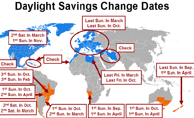 Daylight Saving Time End Will Add An Extra Hour To Your Weekend - Us daylight savings time map