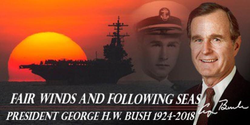 Americans Bid Farewell To Former President George H.W. Bush