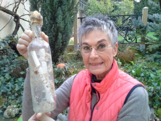 """Brooklyn Artist's """"Message in a Bottle"""" To Raise Environmental Awareness Washes Ashore in France"""