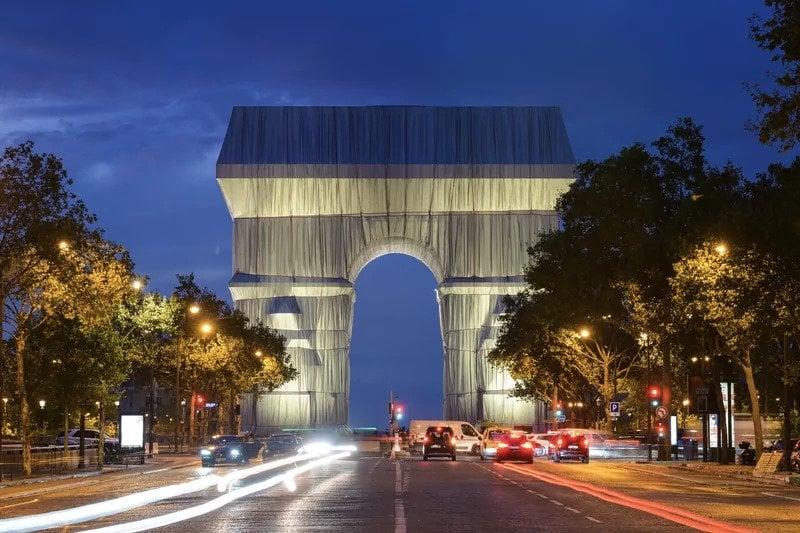 France's Arc de Triomphe Gets A Temporary Artistic Makeover