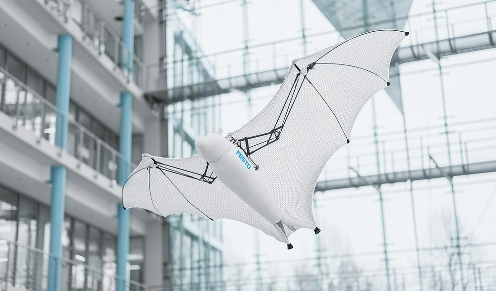 Festo's Bionic Flying Fox Bats And Somersaulting Robotic Spiders Are Incredible