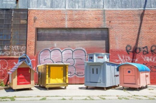 Artist Creates Mobile Homes Made From Recycled Materials For Oakland's Homeless