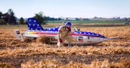 Stuntman Eddie Braun Completes Evel Knievel's Dream Canyon Rocket Jump