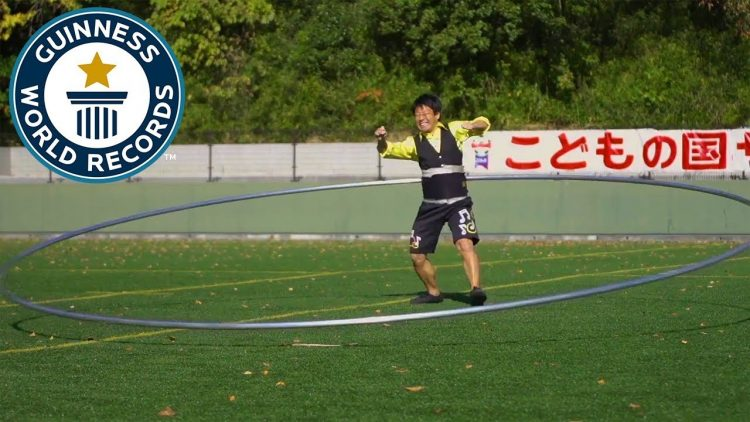 Japanese Man Sets New Guinness Record For Spinning World's Largest Hula Hoop