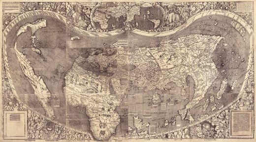 First Map To Name America Accurately, Now On Display