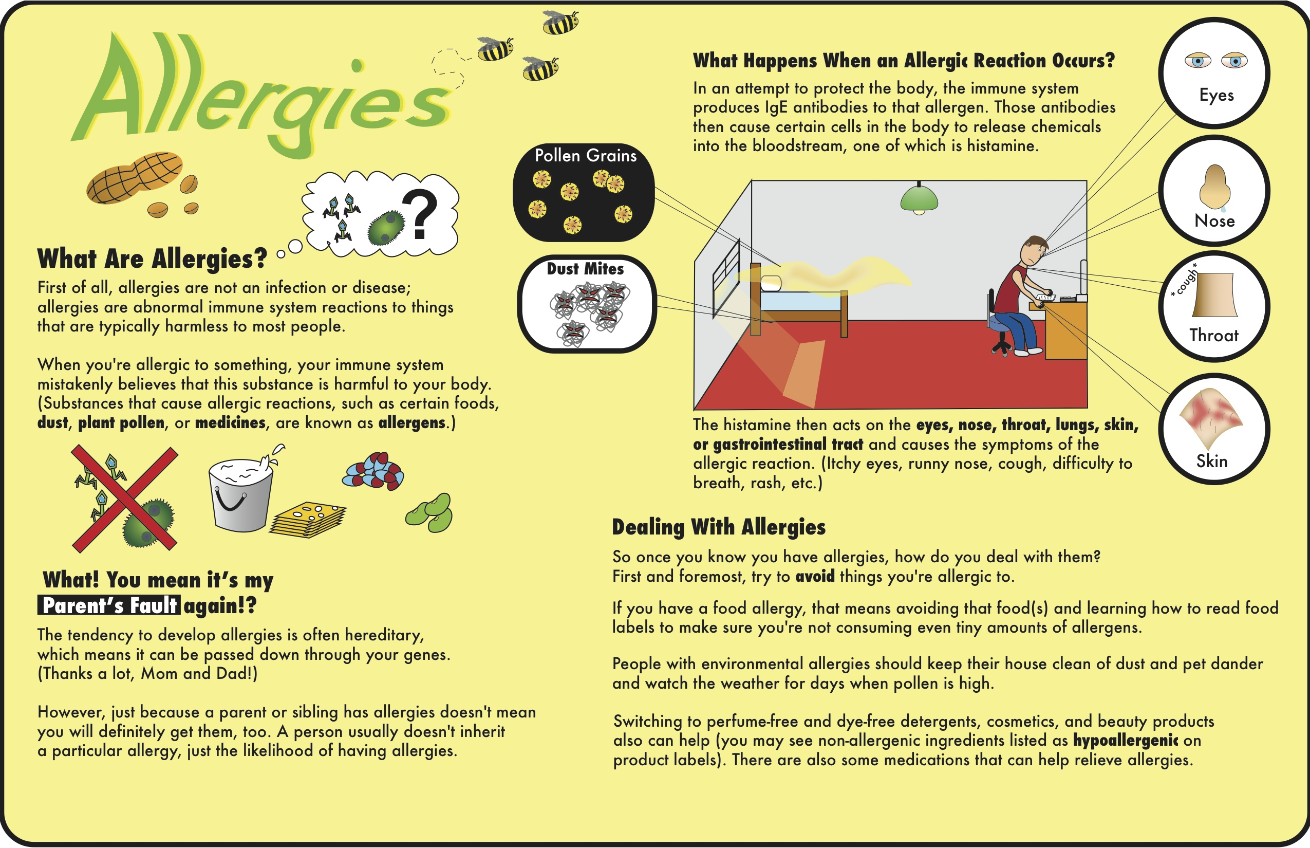 causes and solutions of peanut allergies essay This article provides an in depth description of food allergies, the signs  cause  most allergy symptoms, and antihistamines block their effects.