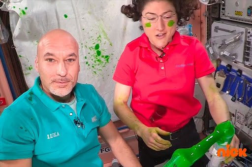 Even ISS Astronauts Cannot Escape Nickelodeon's Iconic Green Slime!