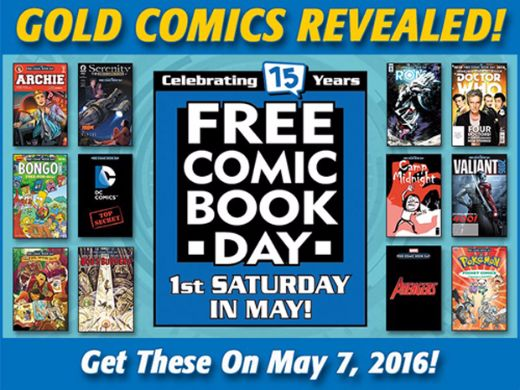 Don't Forget To Get Your Free Comic Book On May 7