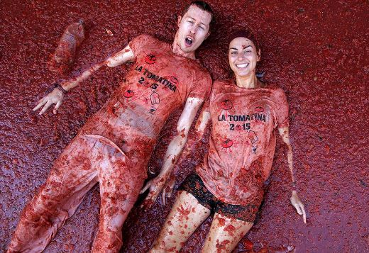 Spain's Messy La Tomatina Festival Celebrates 70 Years!