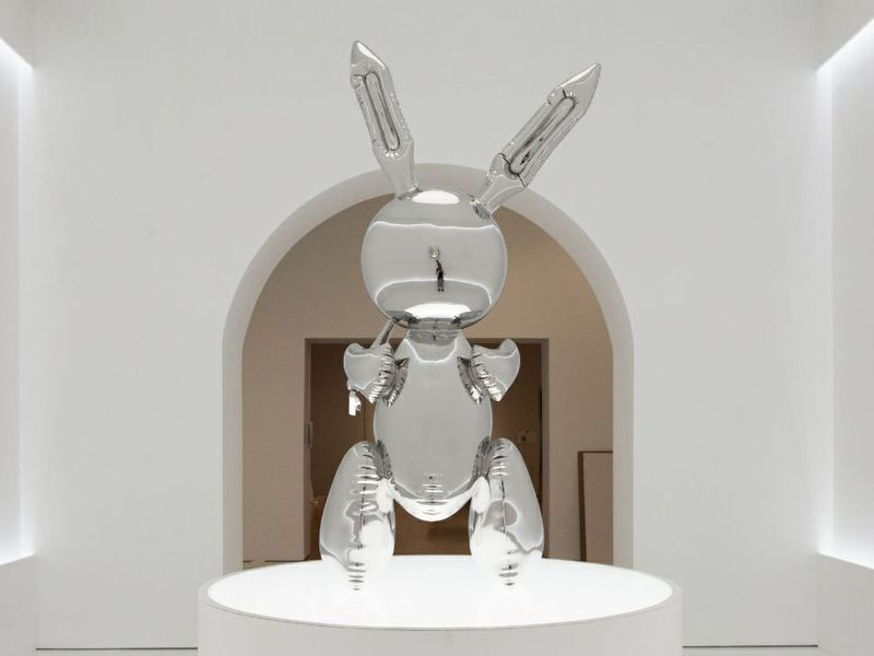 "American Artist Jeff Koons' ""Rabbit"" Sculpture Auctions For A Record $91 Million"