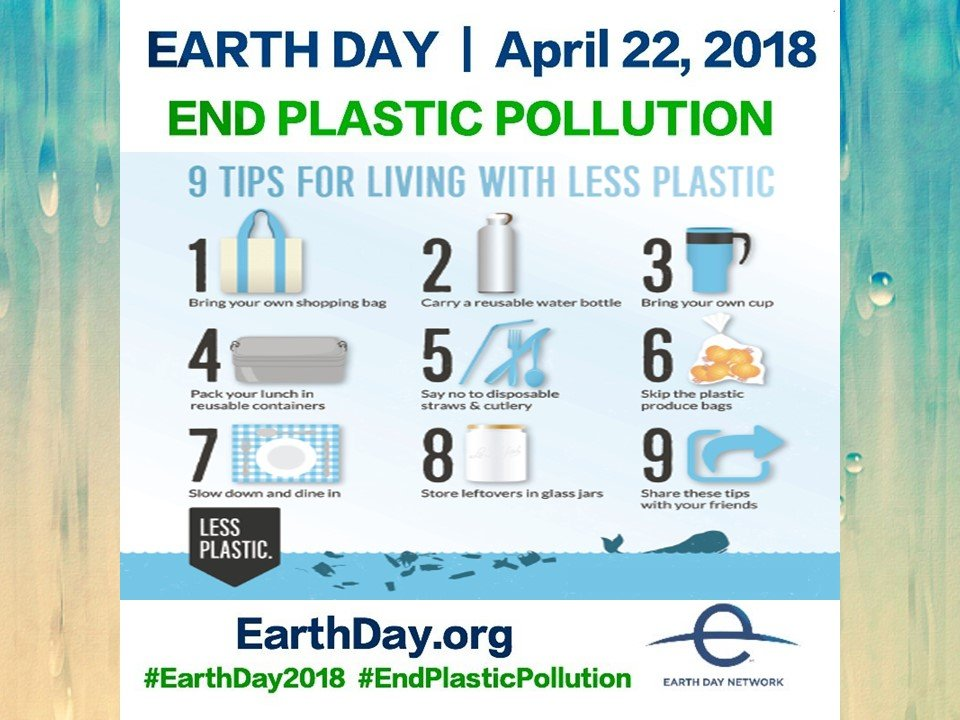 Earth Day 2018 calls for an end to plastic pollution