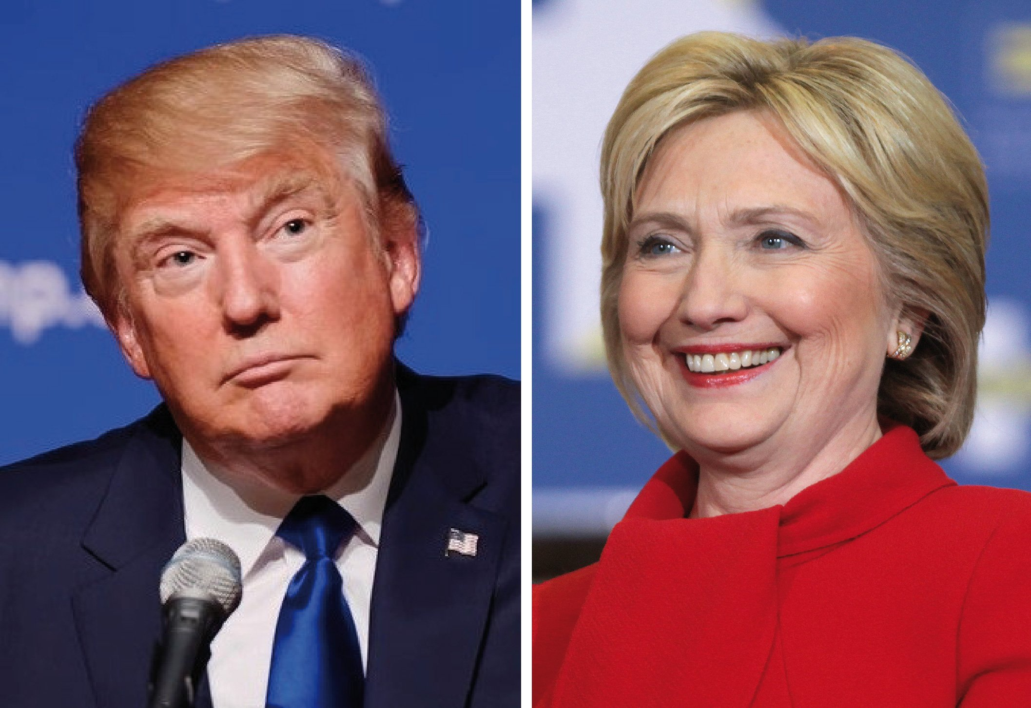 Image result for hillary clinton and donald trump