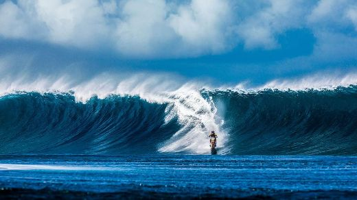 Australian Daredevil Robbie Maddison Surfs Giant Wave On His Dirt Bike