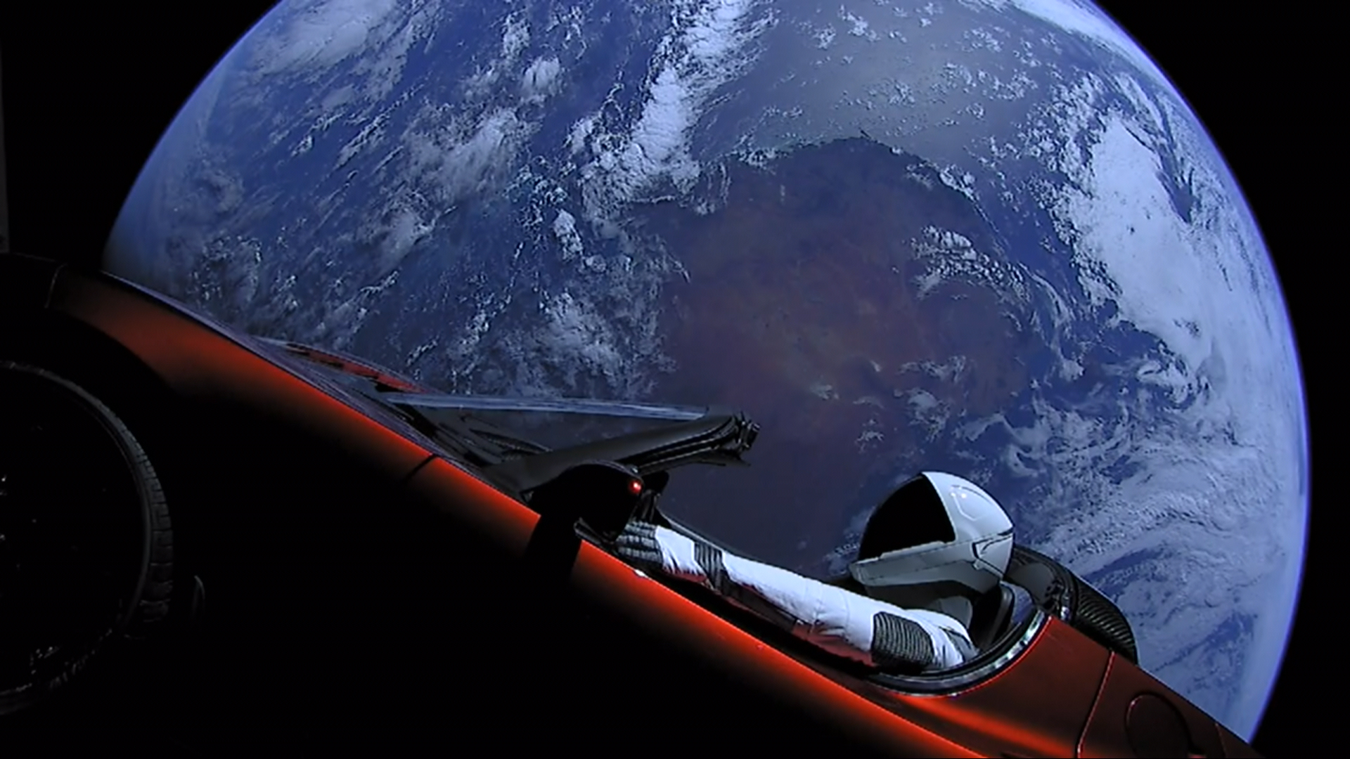 SpaceX's Starman Just Did A Flyby Of Mars In His Tesla Roadster!