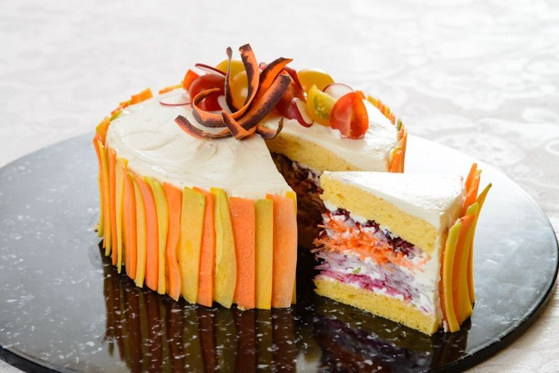 Salads Disguised As Cakes Are A Hit In Japan