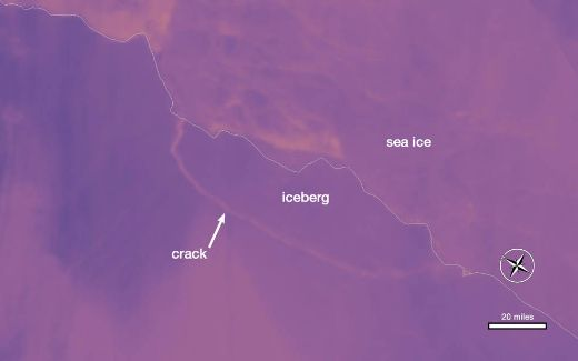 Trillion Ton Iceberg Breaks Free From Antarctica