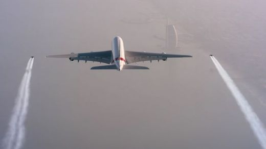 Video Of The Week - Jetman Yves Rossy Flies Alongside World's Largest Passenger Plane