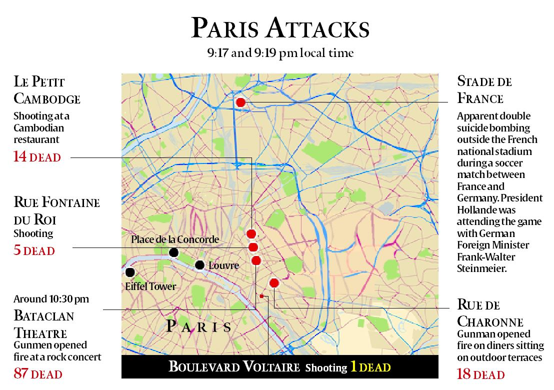 Terror In Paris Kids News Article - Brussels location on world map