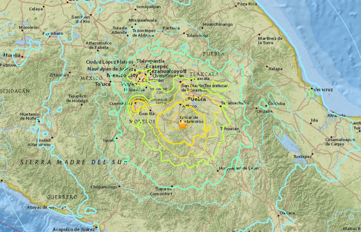 Powerful 7.1 Magnitude Earthquake Rocks Central Mexico