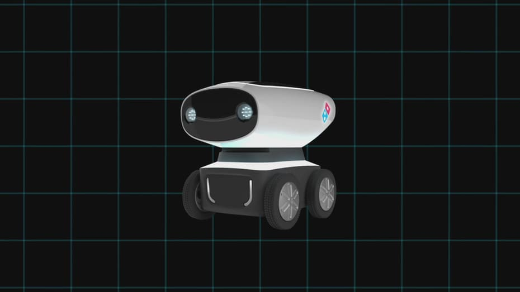 Meet DRU — The World's First Pizza Delivery Robot!
