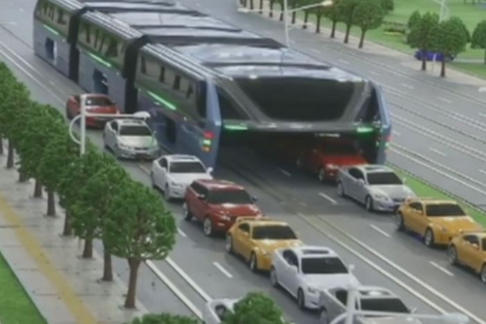 Can An Elevated Bus Solve China's Traffic Woes?