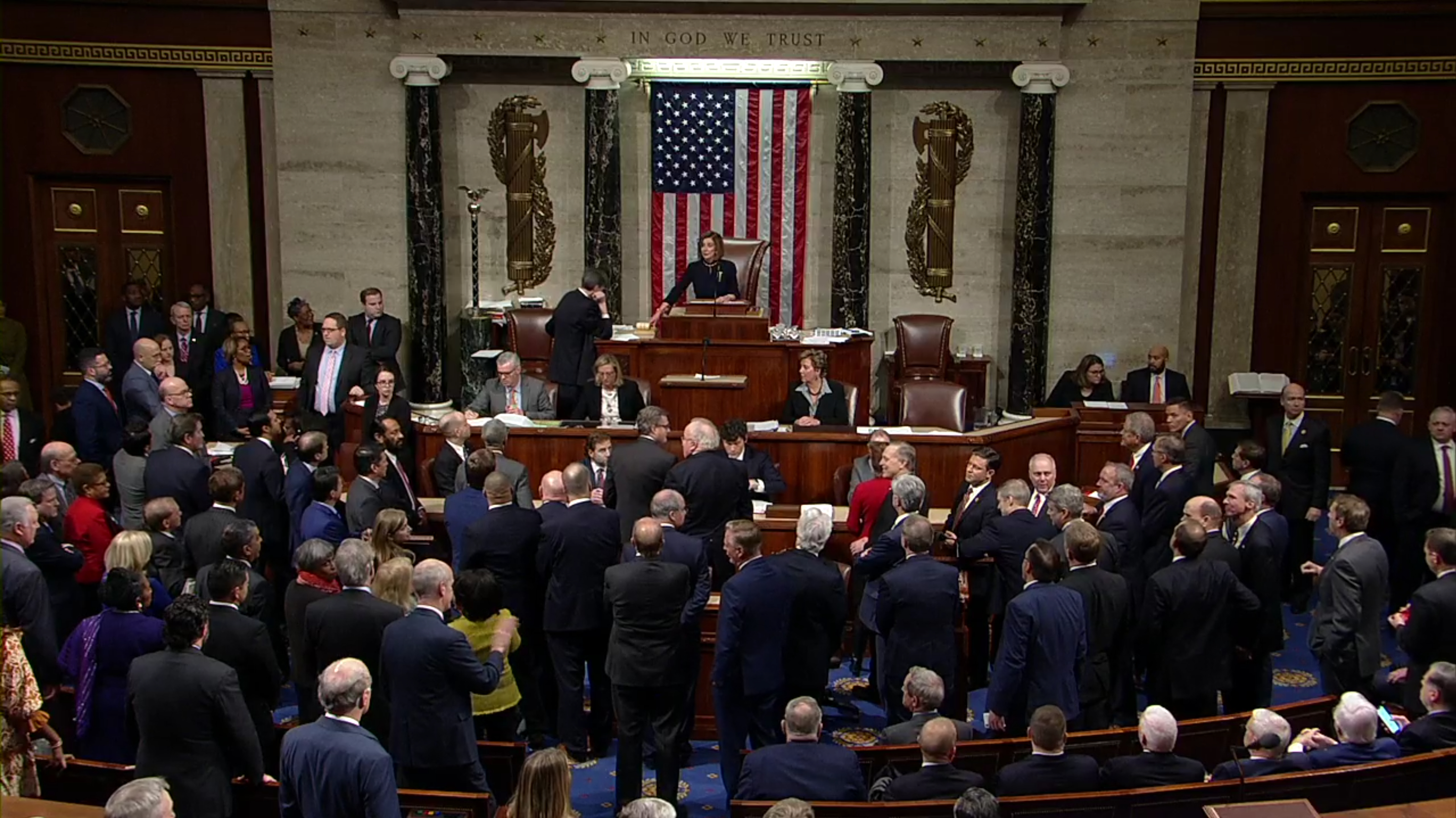 House Of Representatives Votes To Impeach US President Donald Trump