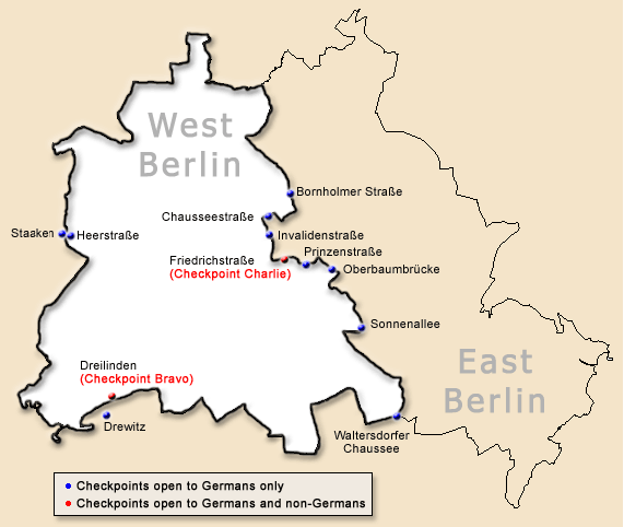 Commemorating The Th Anniversary Of The Fall Of The Berlin Wall - Map of divided berlin