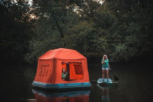 Floating Tent Allows You To Camp On Water