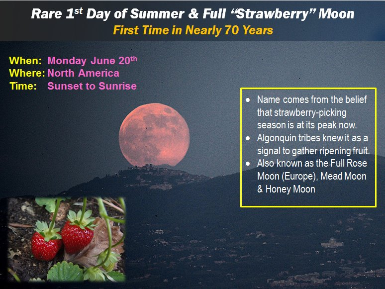 Summer Solstice And Strawberry Moon Make For A Perfect Day!