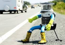 hitchBOT - The World's First Hitchhiking Robot Completes Cross Country Journey