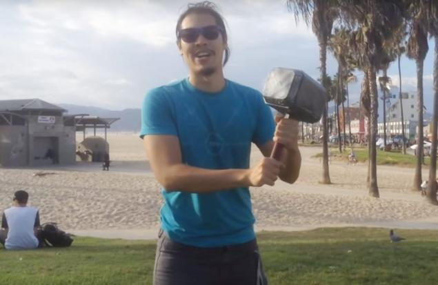 video of the week engineer builds real life thor hammer kids news