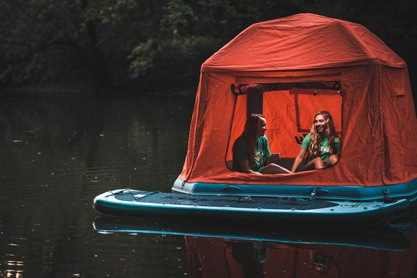 & Floating Tent Allows You To Camp On Water Kids News Article