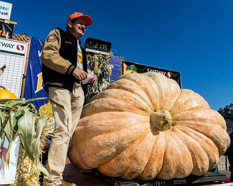 "California Man Wins ""Super Bowl of Weigh-Offs"" With Record-Breaking 2,175 Pound Pumpkin"