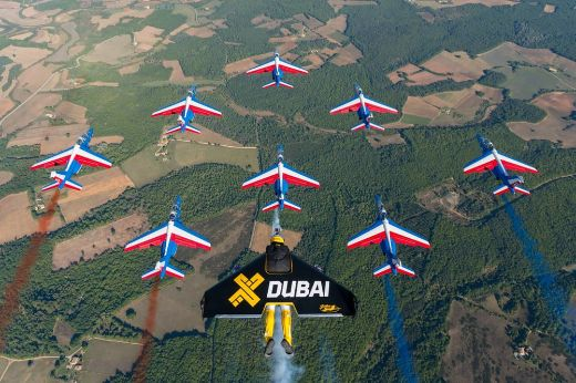 Video Of The Week — Jetmen Trio Fly In Formation With French Military Jets