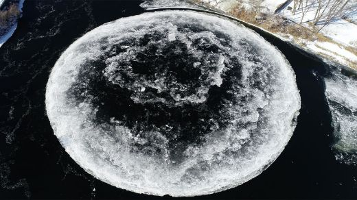 Sorry, The Rotating Ice Disk In Maine Is Not The Work Of Aliens