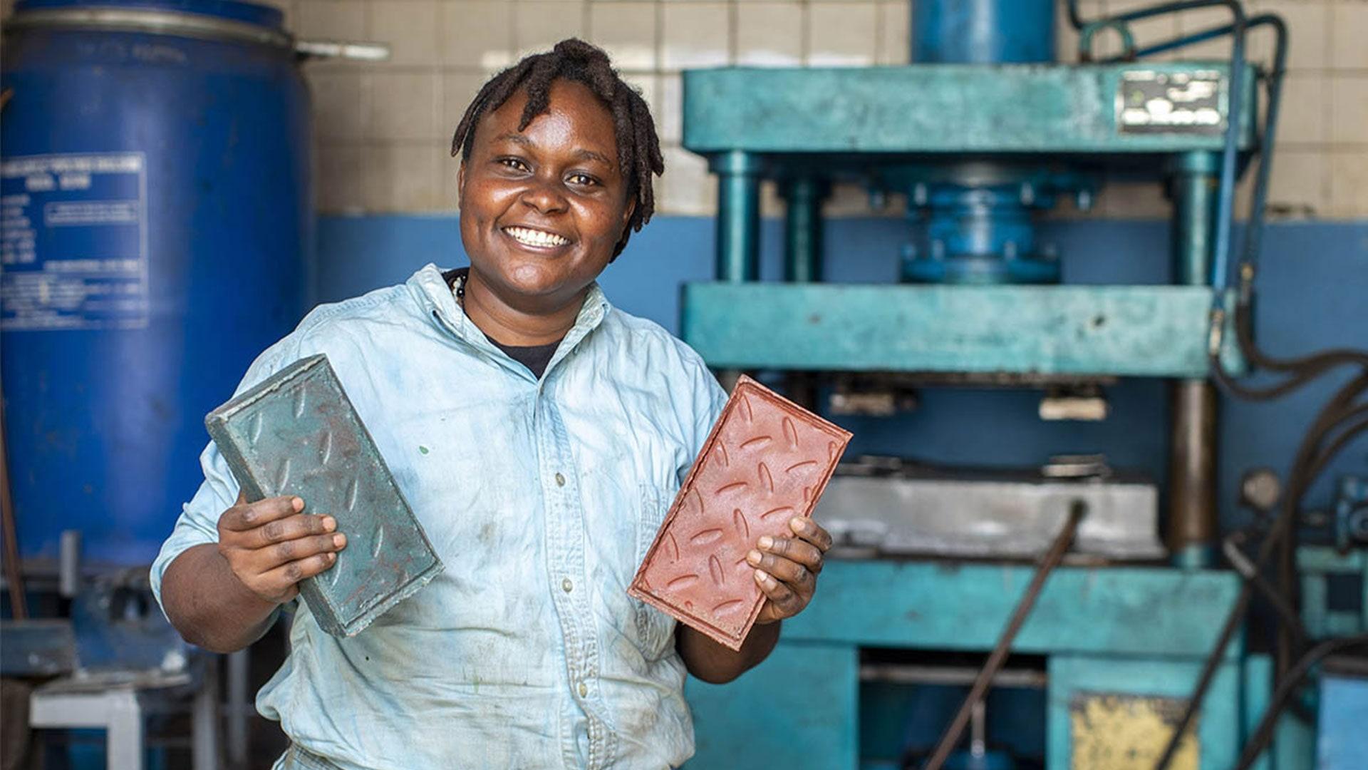 Enterprising Kenyan Engineer Finds An Innovative Solution To Use Plastic Waste