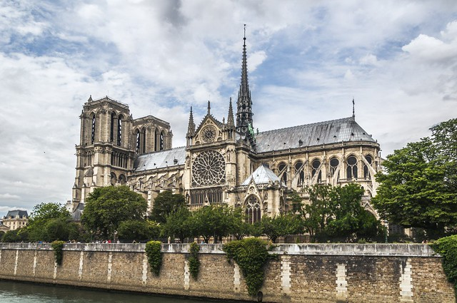 French President Emmanuel Macron Promises To Rebuild Fire-Ravaged Notre Dame Cathedral