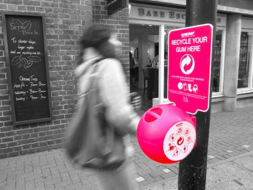 Playful Gumdrop Bins Help Reduce Sticky Gum Litter And Give It A Second Life