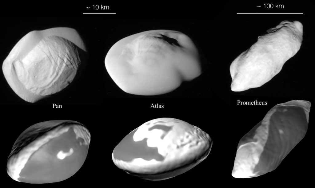 The Mystery Of Saturn's Ravioli-Shaped Moons Has Finally Been Solved