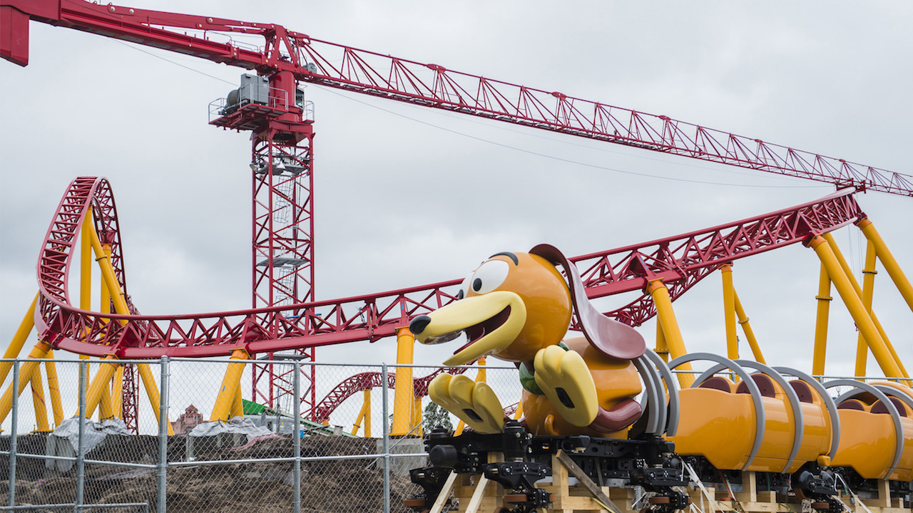 disney unveils slinky dog dash roller coaster to celebrate