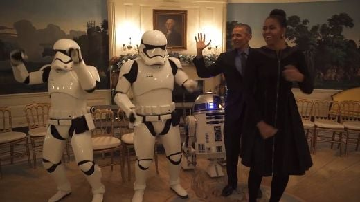 Video Of The Week - Obamas Celebrate Star Wars Day With Stormtroopers And R2D2