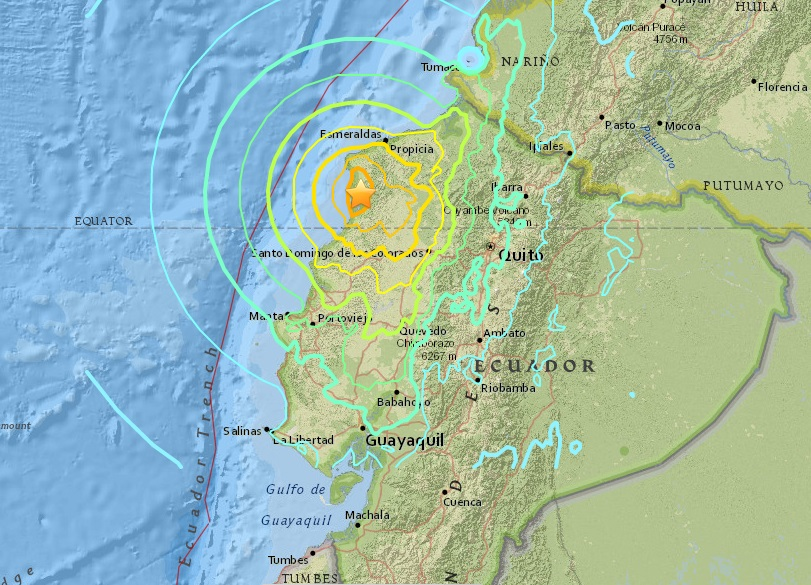 Powerful earthquakes rock southern japan and ecuador kids news article ecuador earthquake photo credit usgs gumiabroncs Choice Image