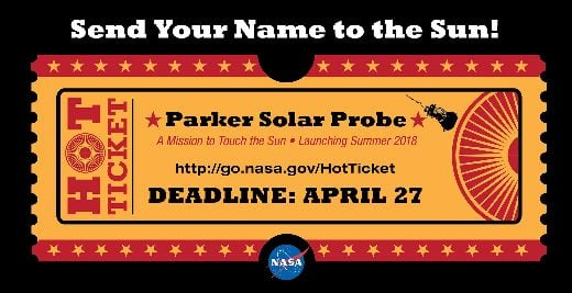 Hop Aboard NASA's Historic Voyage To Touch The Sun By Sending In Your Name