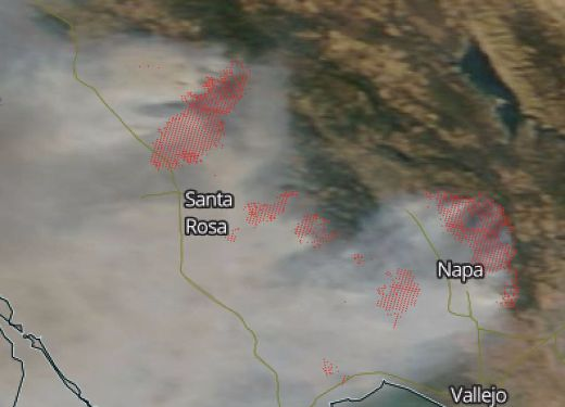 Ferocious Northern California Fires Show No Signs Of Slowing Down