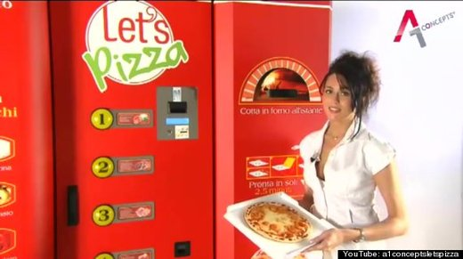 Coming Soon To A Theme Park Near You A Pizza Vending