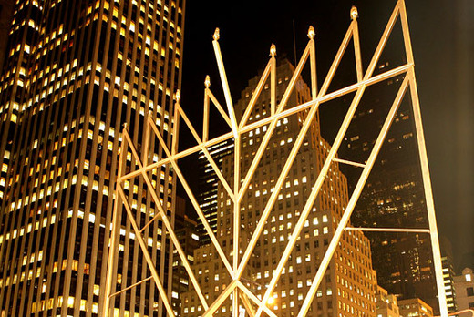 Yesterday after sundown thousands of people gathered at New York Cityu0027s Grand Army Plaza to witness the lighting of the worldu0027s largest menorah. & New York City Lights Up Worldu0027s Largest Menorah To Mark Start Of ... azcodes.com