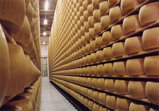 This Italian Bank Safeguards No Money . . Only Cheese!