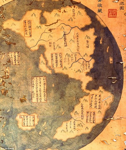 Map Of The World Before Columbus.New Book Claims It Was Admiral Zheng He Not Christopher Columbus